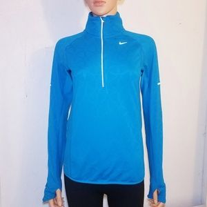 Nike Aqua Blue Small Dri Fit Running Jacket